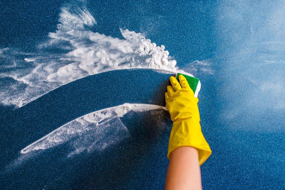 como limpiar alfombras de vinilo