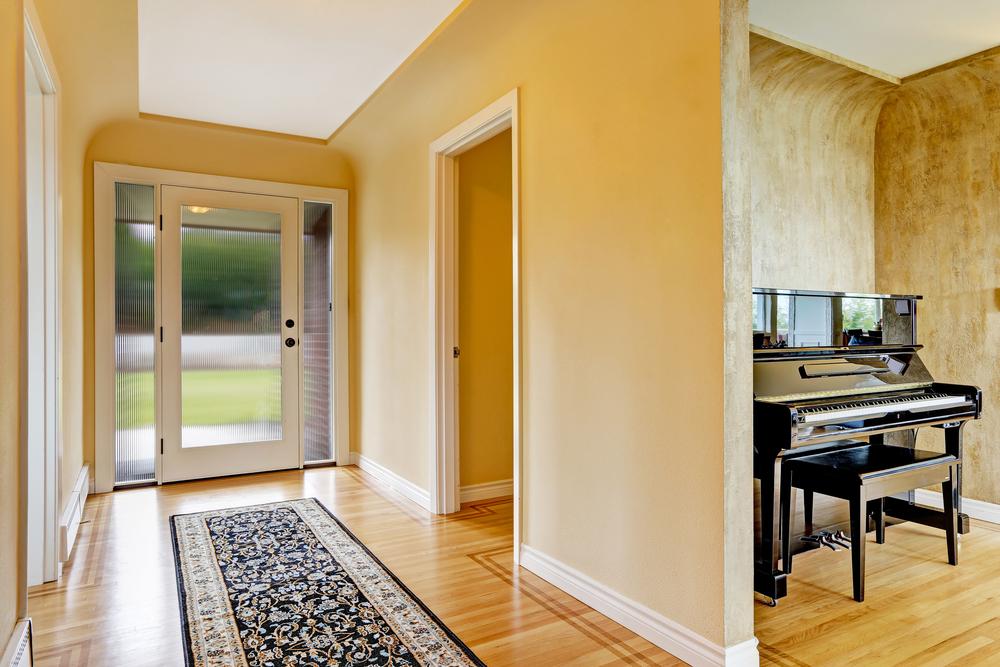 decoracion de pasillos con alfombras