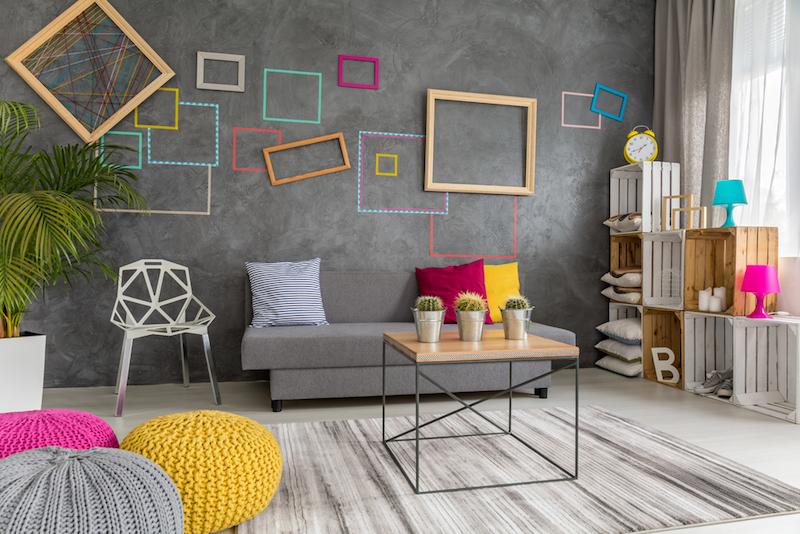 decoracion de salas con alfombras