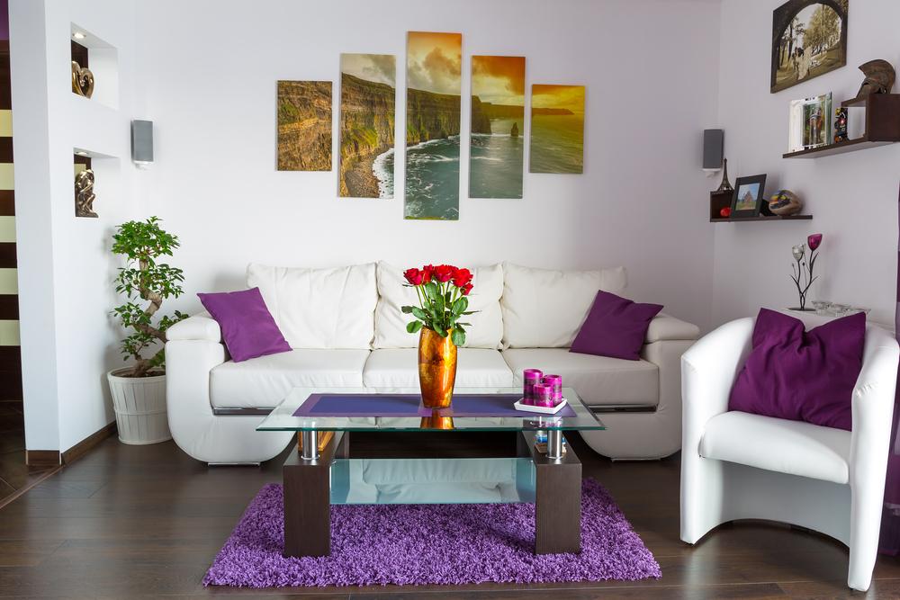decorar con cojines y alfombras