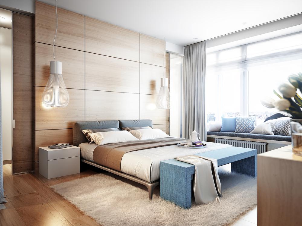 habitacion con alfombra y cojines