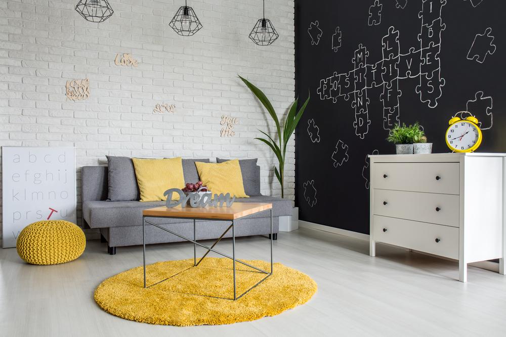 decorar con alfombras redondas